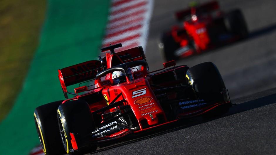 Wer ist die Nummer eins? Zwischen Vettel (vorne) und Leclerc ist die Lage ungeklärt.