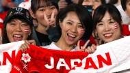 Im Rugby-Fieber: Japan entdeckt das Ei für sich.