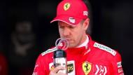 Sebastian Vettel und Ferrari fahren in der Formel 1 hinter Mercedes her.