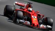 Sebastian Vettel kam in Baku im Qualifying nur auf Platz vier.