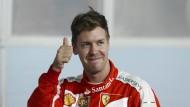 Daumen hoch statt Zeigefinger: Vettels Zeichensprache hat sich geändert