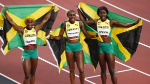 Elaine Thompson-Herah ist die schnellste Frau der Welt