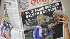 Im Mittelpunkt des WM-Skandals 2010 der Franzosen standen Trainer Raymond Domenech - und Anelka