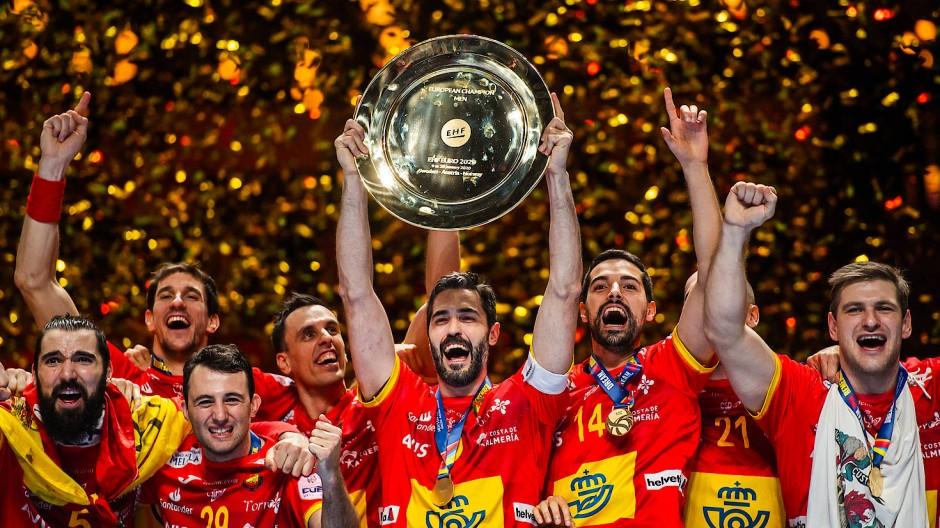 Wieder bejubelt Spanien den Titel bei der Handball-EM.