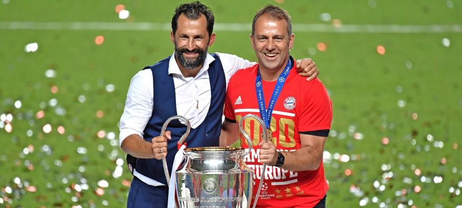 Das waren noch Zeiten: Hasan Salihamidzic (links) und Hansi Flick nach dem Champions-League-Triumph im August 2020.