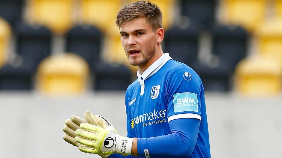 Zupackend: Der Magdeburger Stammtorhüter Morten Behrens will bei Darmstadt 98 den nächsten Schritt machen.