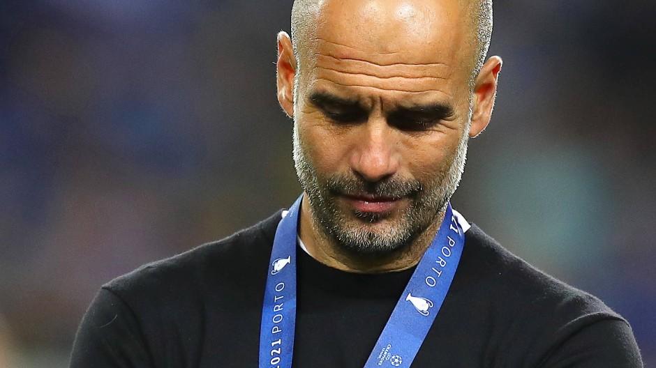 Wieder nichts: Pep Guardiola verpasst den Champions-League-Titel mit Manchester City.