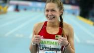 Die jungen Sprinterinnen haben gut Lachen