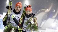 Strahlende Sieger: Johannes Rydzek (l.) und Eric Frenzel