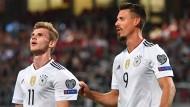 """""""Ich habe noch nie in dem Alter so einen guten Stürmer gesehen"""": Sandro Wagner (rechts) über Timo Werner."""