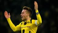 Reus gelang der Ausgleich für Dortmund, das später nach Elfmeterschießen siegte.
