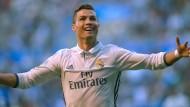 Krise? Welche Krise? Cristiano Ronaldo hat wieder allen Grund zum Strahlen.