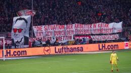 Bayern-Fans gegen Qatar-Sponsoring