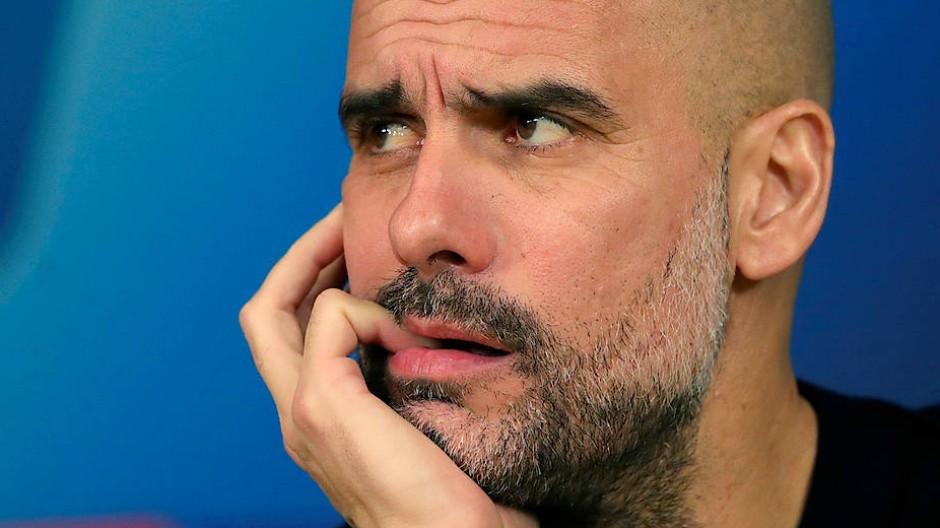 Blickt in eine ungewisse Zukunft: Pep Guardiola, Trainer von Manchester City