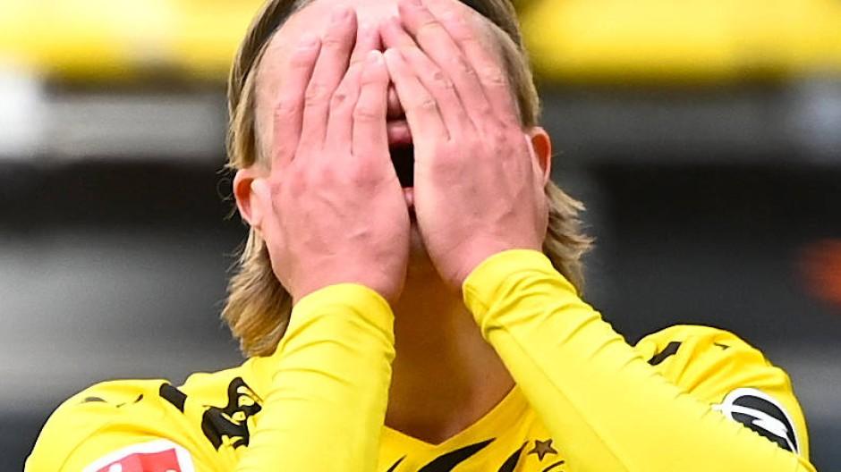Erling Haaland trifft nicht, Dortmund verliert gegen Frankfurt.