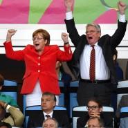 Das waren noch Zeiten: Angela Merkel und Joachim Gauck jubeln über Mario Götzes Tor im WM-Finale 2014 in Rio de Janeiro.