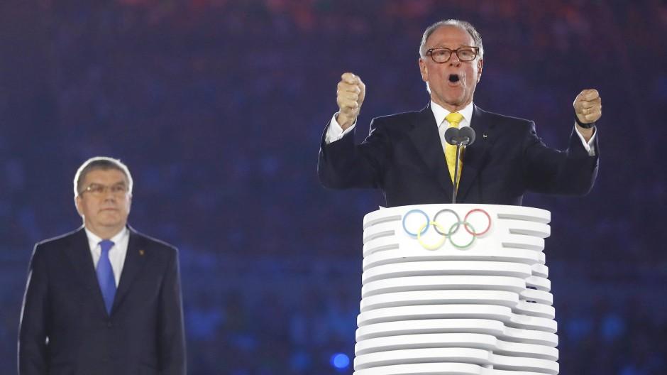 2016 sprach er als Präsident des Organisationskomitees bei der Eröffnung der Spiele.