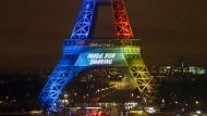"""Der Eiffelturm ist für alle da: """"Gemacht, um zu teilen"""" lautet der Slogan von Paris für Olympia 2024."""