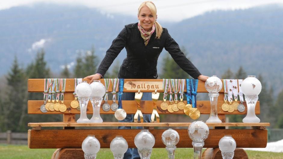 Wallgau feiert Magdalena Neuner