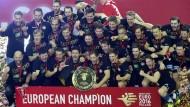 Die besten in Europa – aber an die nächste Medaille denkt noch niemand bei den deutschen Handballern.