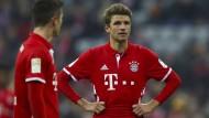Nicht nur bei Thomas Müller (rechts) läuft es derzeit irgendwie nicht rund.