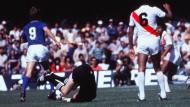 """Walter Eschweiler bei der WM 1982: """"Die Rolle rückwärts war perfekt, an der Rolle vorwärts arbeiten wir noch."""""""