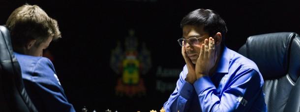Vergeblich gegrübelt: Anand gelingt gegen Carlsen kein Sieg