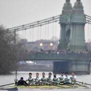 2018 noch im Wasser: der Universitäts-Achter aus Cambridge in Aktion auf der Themse