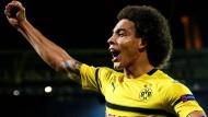 """""""Die Bayern haben in Sachen Erfahrung und damit, mit Druck umzugehen, uns gegenüber einen Vorteil"""": Dortmunds Axel Witsel."""
