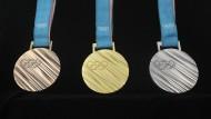 Um diese Medaillen geht es bei den Olympischen Winterspielen 2018 in Pyeongchang.