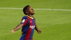 Ansu stellt Messi in den Schatten