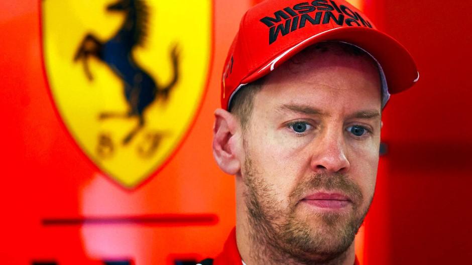 Bislang unzufrieden mit der Saison: Sebastian Vettel (hier im Februar) kommt im Ferrari nicht richtig in Fahrt.