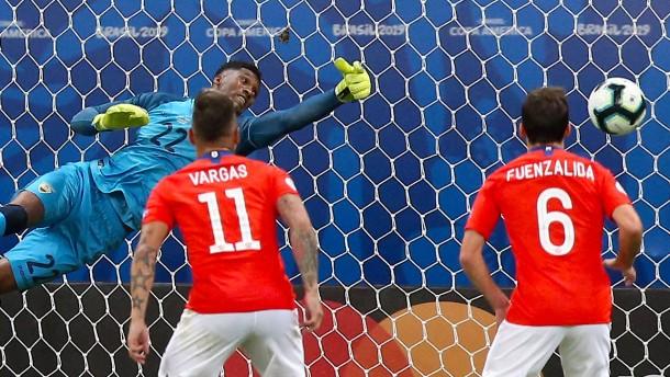 Chile nach Kartenfestival im Viertelfinale