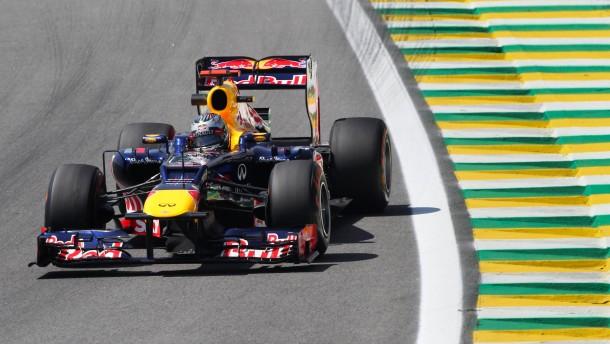 Gut unterwegs in Sao Paulo: Sebastian Vettel fährt die zweitschnellste Zeit