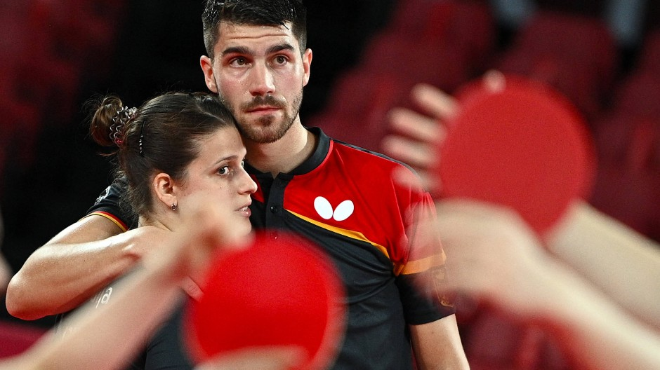 Sieben Matchbälle und doch kein Sieg: Patrick Franziska und Petrissa Solja sind denkbar knapp ausgeschieden.