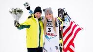 Die Besten vereint: Lindsey Vonn mit Ingemar Stenmark