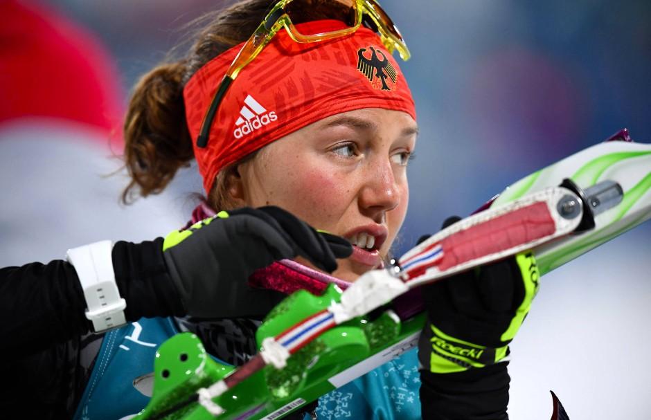 Mit voller Konzentration zum zweiten Gold: Laura Dahlmeier.