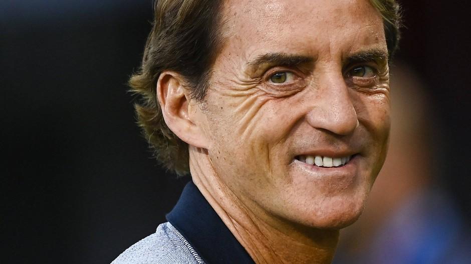 Schwere Aufgabe: Italiens Trainer Roberto Mancini