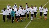 Der Wettlauf um die Plätze: Das Nationalteam beim Training in Düsseldorf