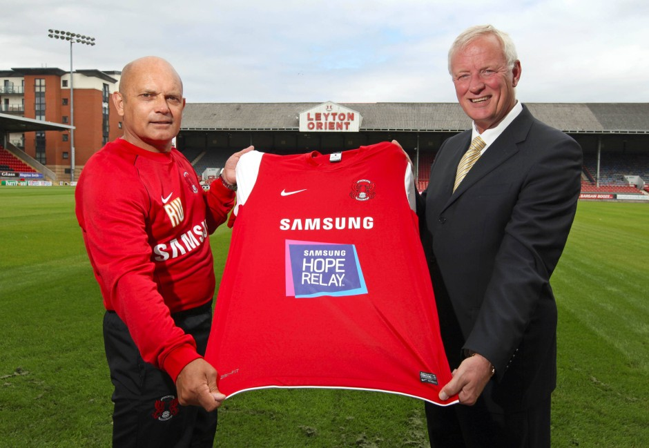 Das lohnte sich nicht: Hearn (rechts) trennte sich von seinem Heimat-Fußballklub Leyton Orient.