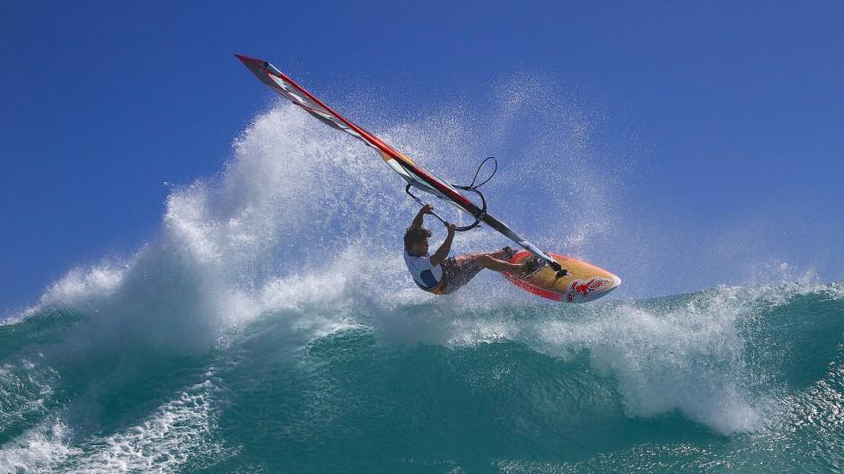 Je stärker der Wind, desto besser der Weltmeister: Philip Köster - in seiner Heimat Gran Canaria