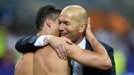 Der Klub mit dem meisten Glamour: Real Madrids Trainer Zinedine Zidane mit Cristiano Ronaldo
