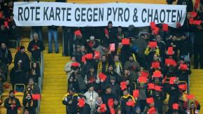 Bei Dynamo protestierten sie gegen Pyro und Chaoten