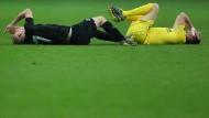 Schmerzensmann: Sebastian Rode und die Eintracht kämpfen gegen Chelsea tapfer.
