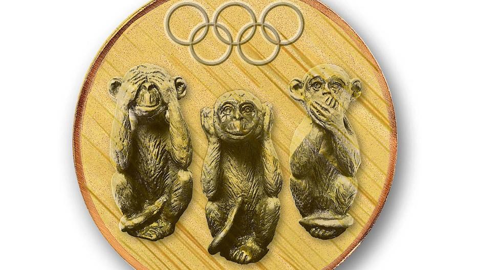 Nichts sehen, nichts hören, nichts sagen: Das IOC will den olympischen Sport politisch neutral halten.