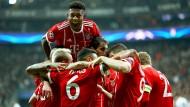 Bayern darf sich über den Einzug ins Champions-League-Viertelfinale freuen.