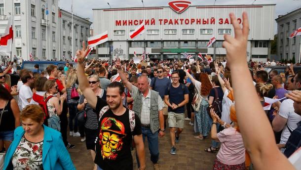 Mit einem Bein in Belarus