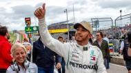 Selbstsicher ans Ziel: Lewis Hamilton kann am Sonntag Formel-1-Weltmeister werden.