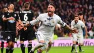 Immer wieder Sergio Ramos: Für Real Madrid trifft er wieder, wenn es am nötigsten ist.