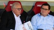 Ein letztes Mal als Freiburg-Präsident: Fritz Keller beim Spiel gegen Augsburg.